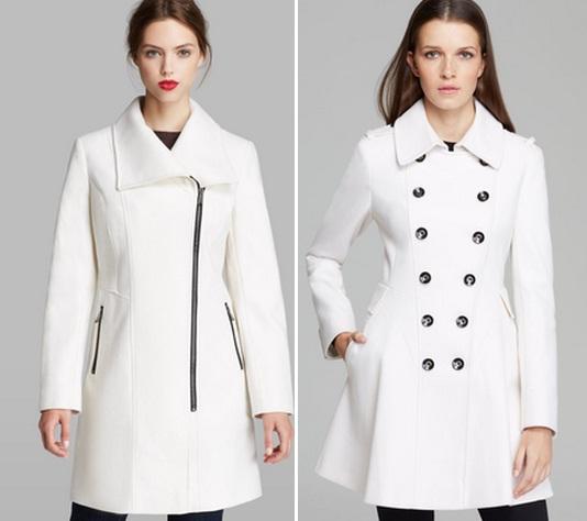 Белое пальто в современной моде