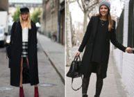 Выбираем шапку к чёрному пальто