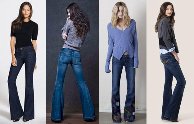 С каким верхом носить джинсы клеш