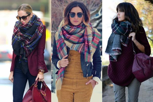 Тёплый палантин: кому носить и как завязывать?
