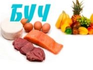 БУЧ- поочередность белков и углеводов