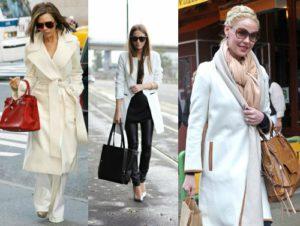 Аксессуары к белому пальто