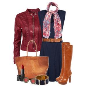 Верхняя одежда к рыжим сапогам