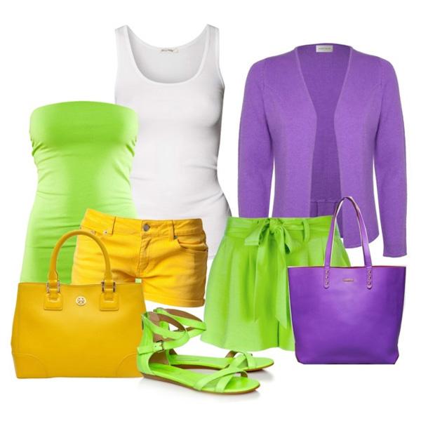 С чем носить босоножки салатового цвета?