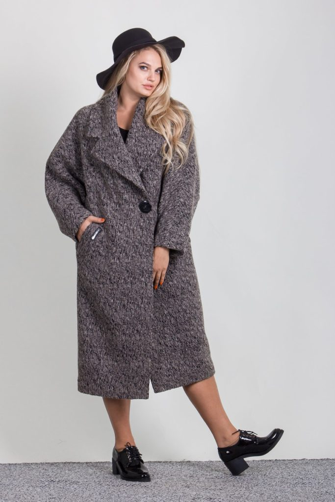 Модные образы с серым пальто