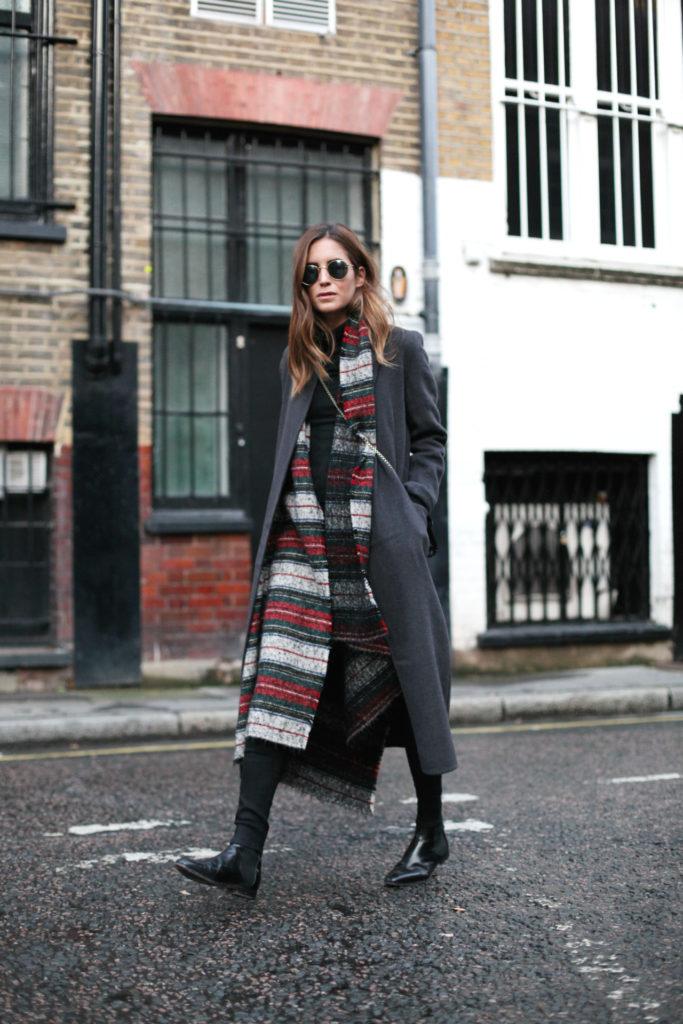 С чем носить серое пальто?