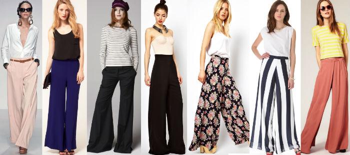 Лучшие сочетания с широкими брюками?