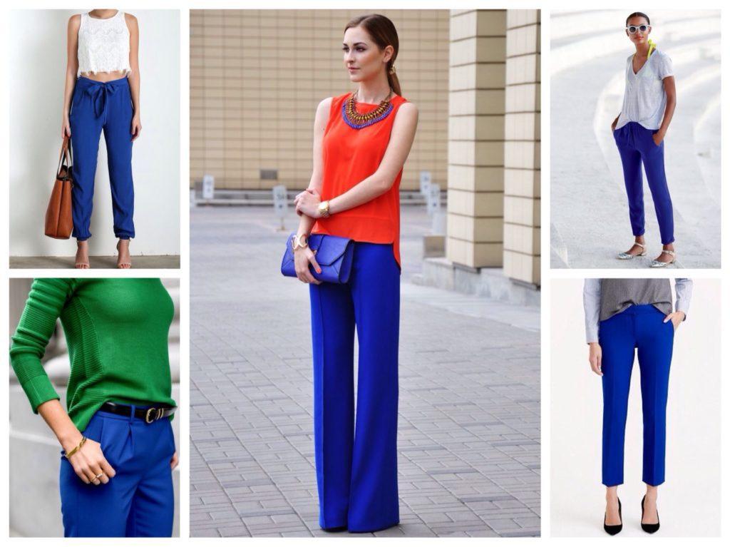 Разнообразие синих брюк