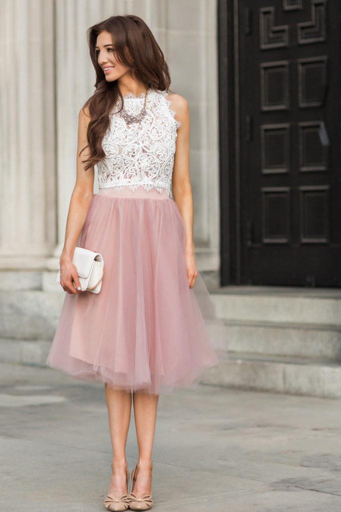 Пастельные оттенки юбки из фатина