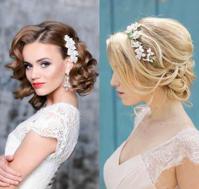 прически на свадьбу короткие волосы фото достоинством является то