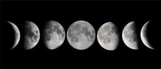 Питание по фазам луны