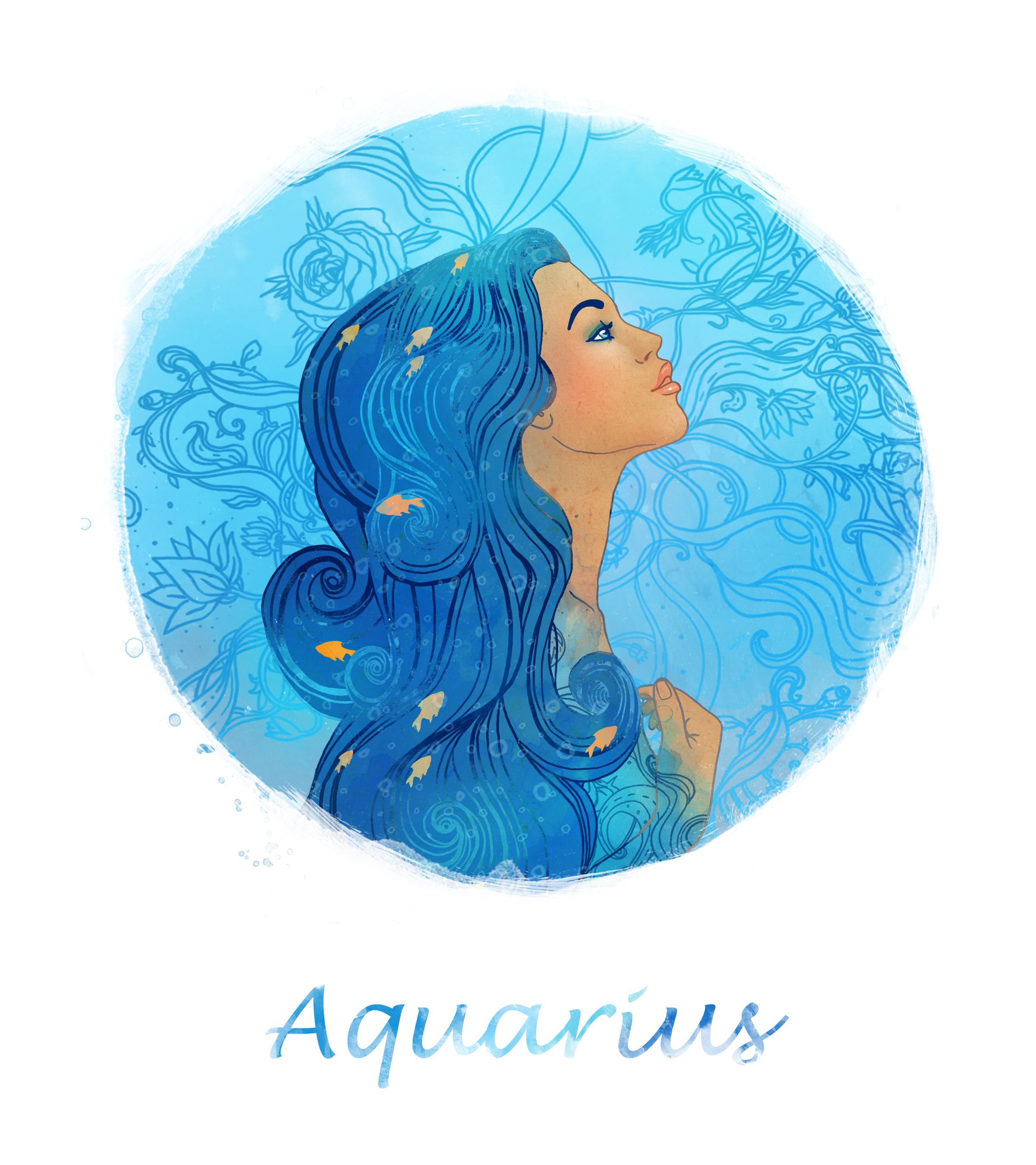 Картинки знака зодиака водолей для девочки