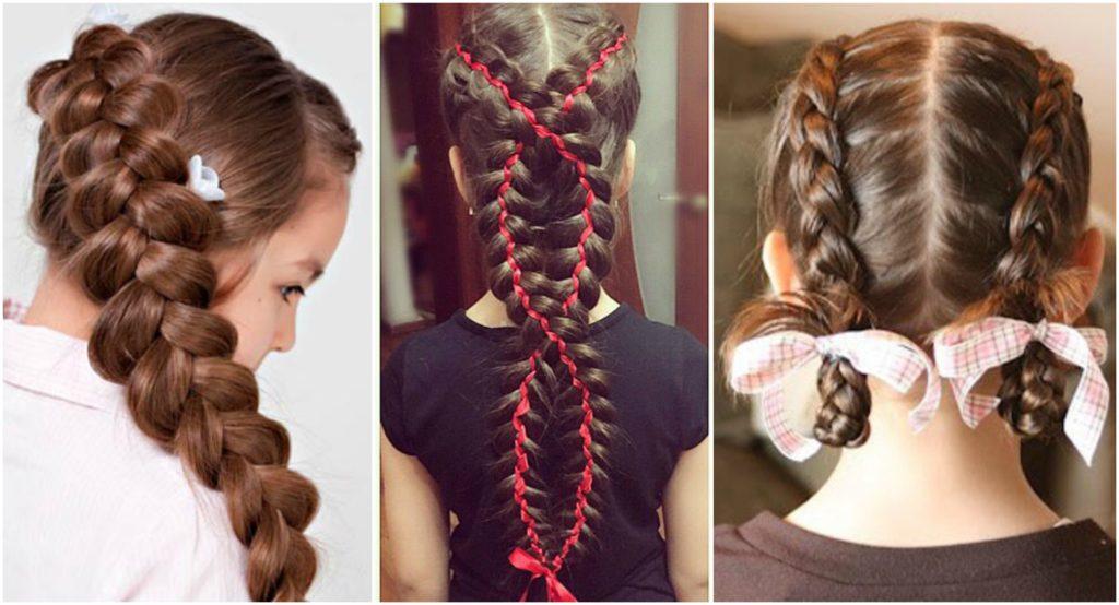 Варианты причёсок для школьниц