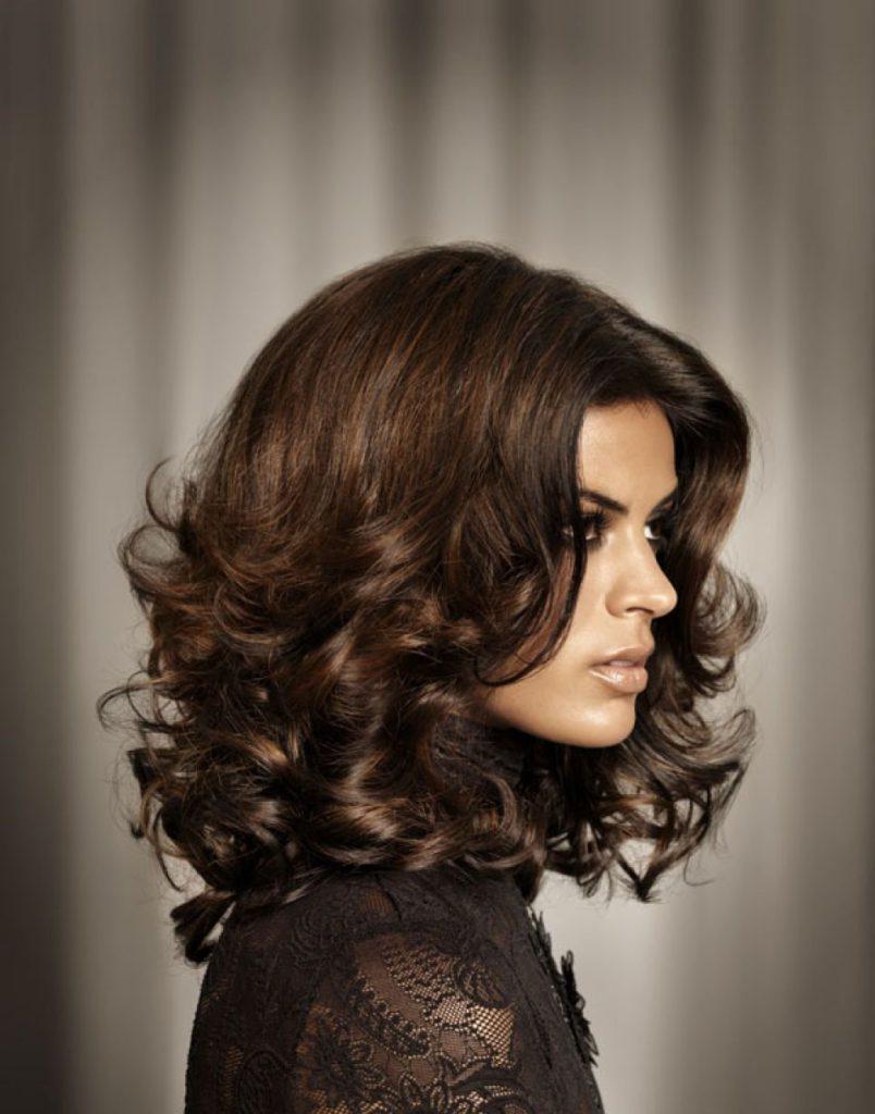 Объёмная укладка для коротких волос