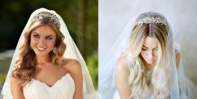 Лучшие свадебные причёски с фатой