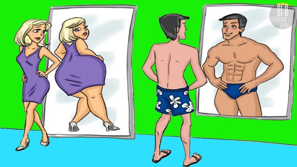 Женское расширение и мужское сжатие