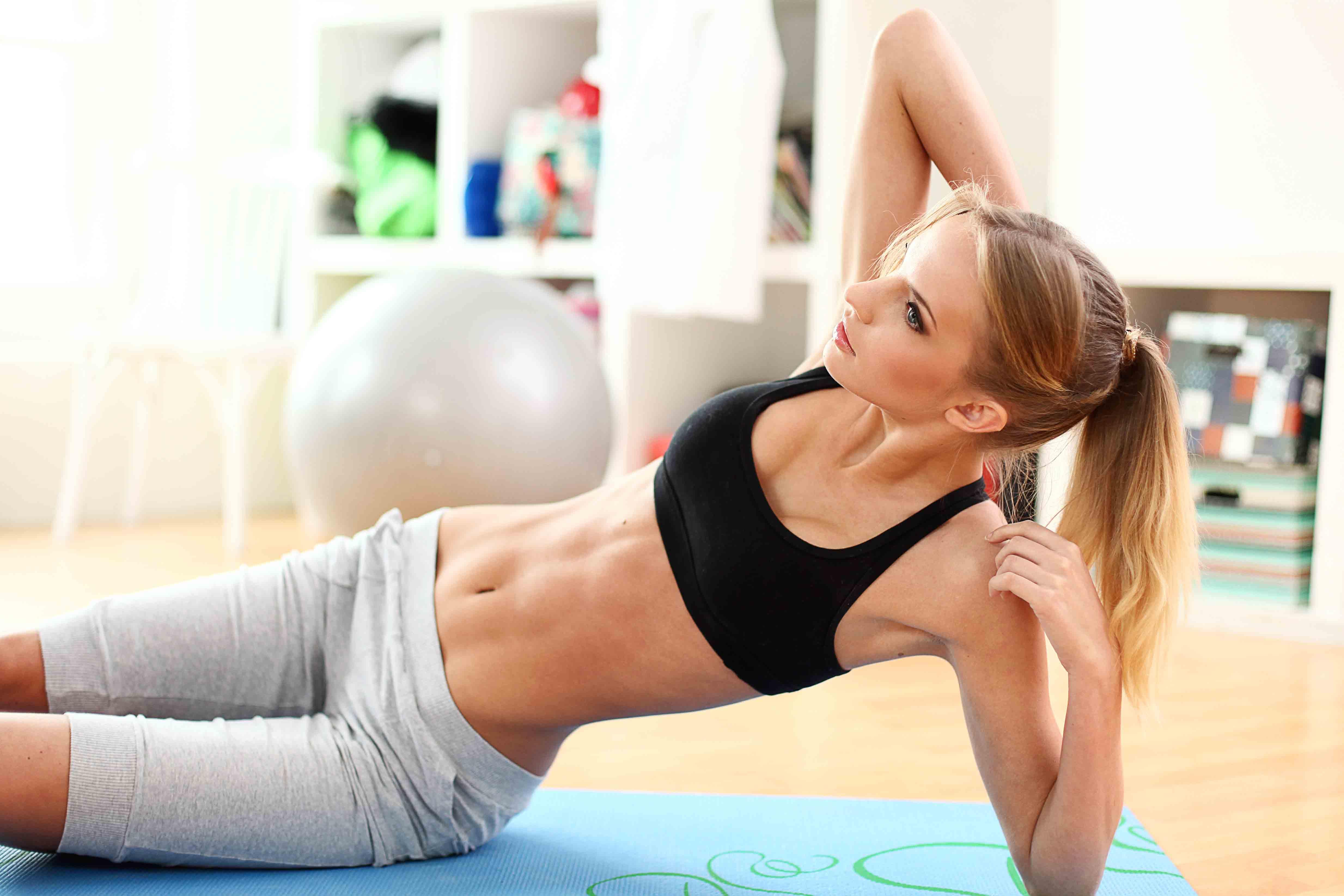 Домашние упражнения для похудения фитнес