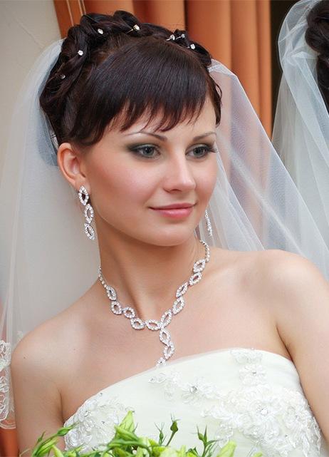Свадебные укладки для коротких волос