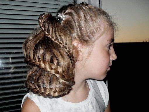 Французское плетение в детских причёсках