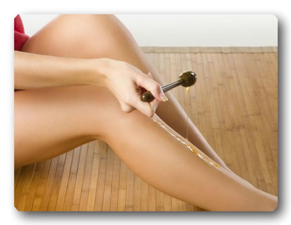 Как удалять волоски сахарной пастой