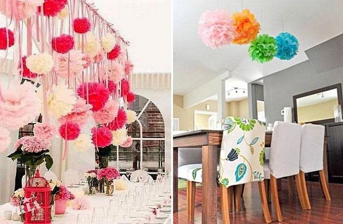 Украшения комнаты своими руками на свадьбу