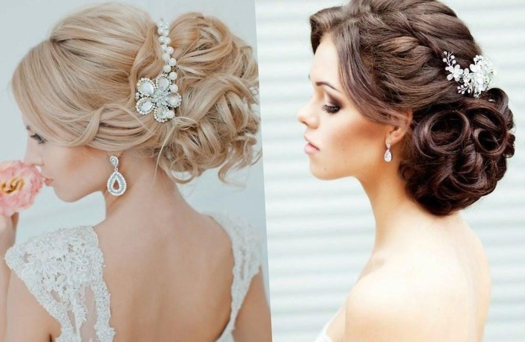 Фото прически свадебные на средние волосы