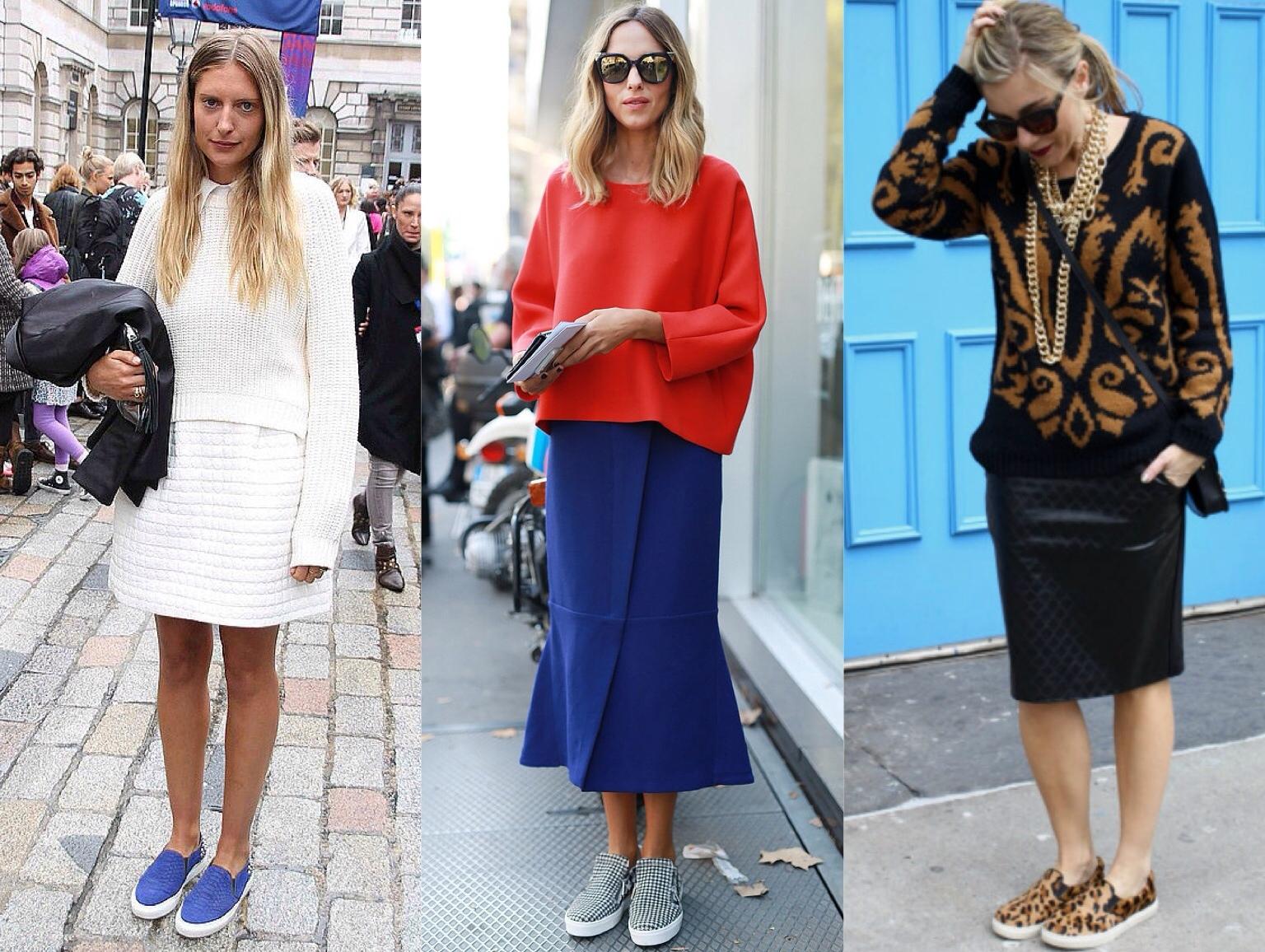 Слипоны и юбки