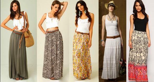 Модели в юбках в пол фото