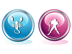 Женщина-Скорпион и мужчина-Водолей