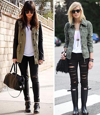 Рваные джинсы чёрного цвета