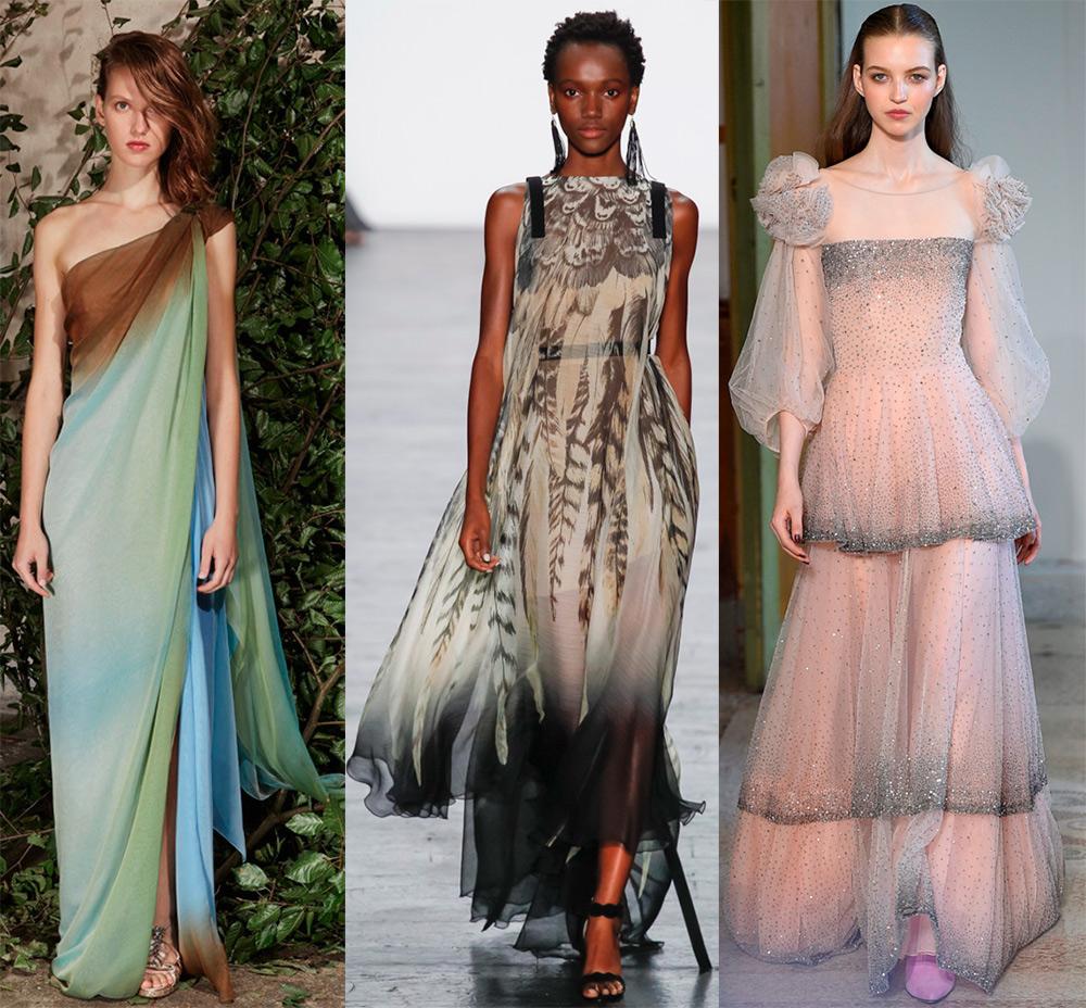 Платья из множества слоёв