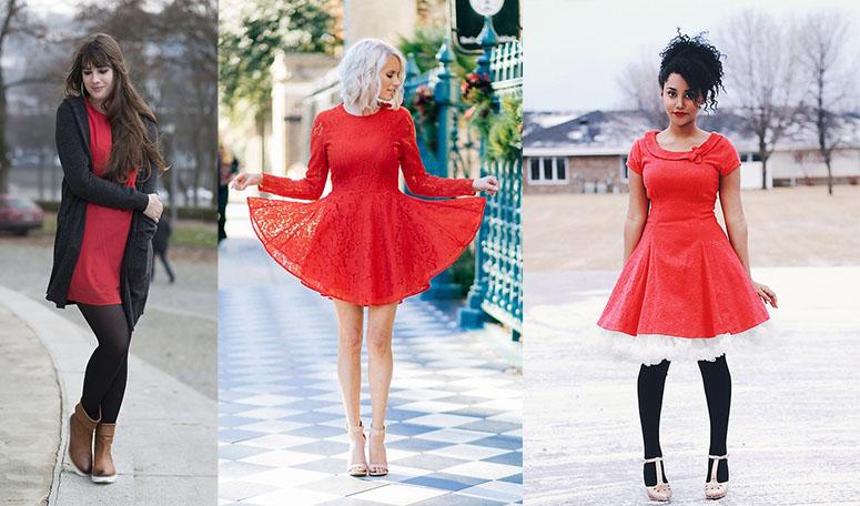 Что можно надеть под красное платье