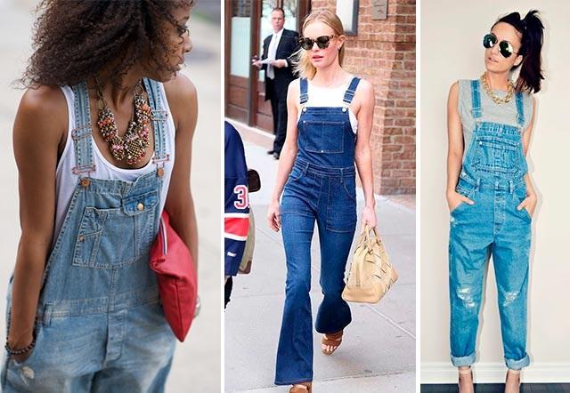 Комбинезон из джинса и майка