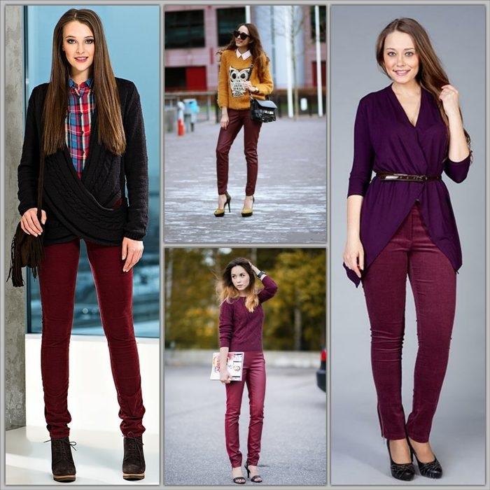 Как выбрать свои брюки бордо