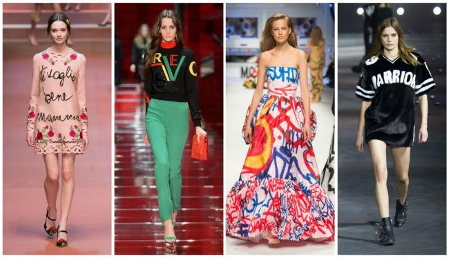 Модно ли носить одежду с логотипами и надписями в 2017 году?