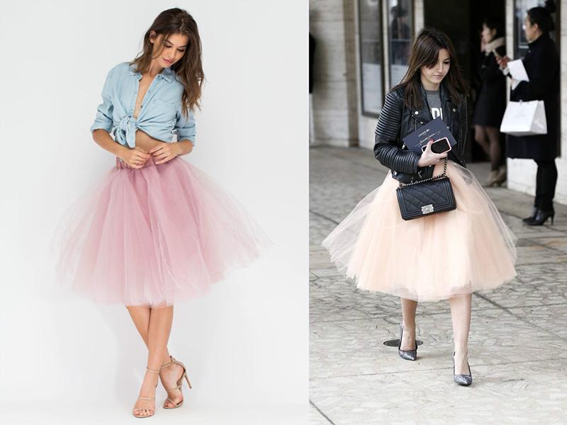 Мода фатиновая юбка