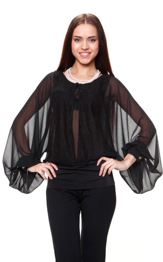Оригинальные чёрные блузки