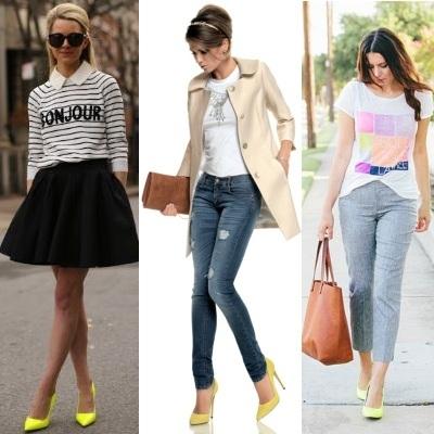 Носим жёлтые туфли правильно!