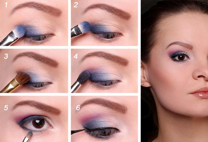 Увеличить карие глаза макияжем