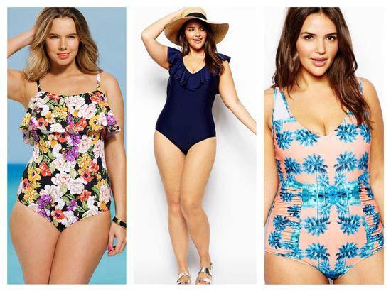 Пляжная летняя мода 2017 для полных женщин