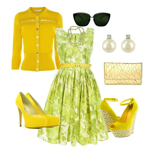 Рекомендации стилистов по формированию образа с жёлтыми туфлями