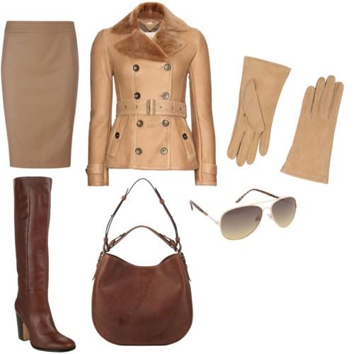 Выбор курточки к коричневым сапогам