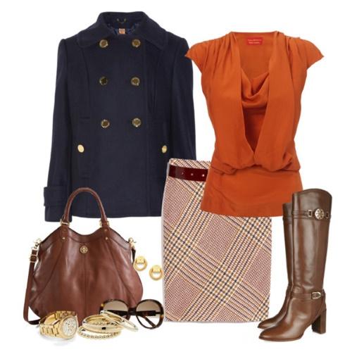 Оранжевый и коричневый