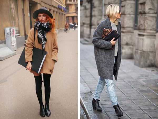 Современные фасоны пальто оверсайз