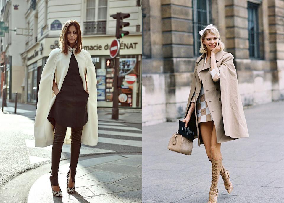 Как носить пальто с туфлями и босоножками