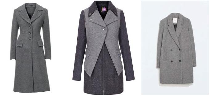 Выбираем модель серого пальто