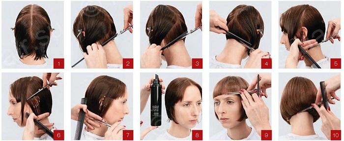Схемы подстригать волосы