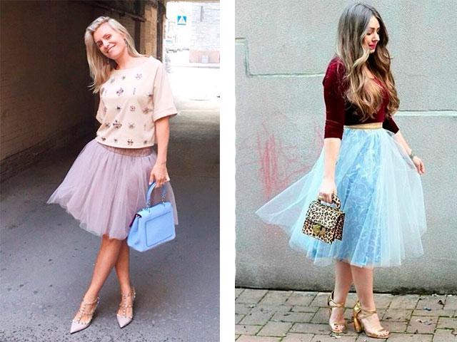 С чем можно носить юбку из сетки