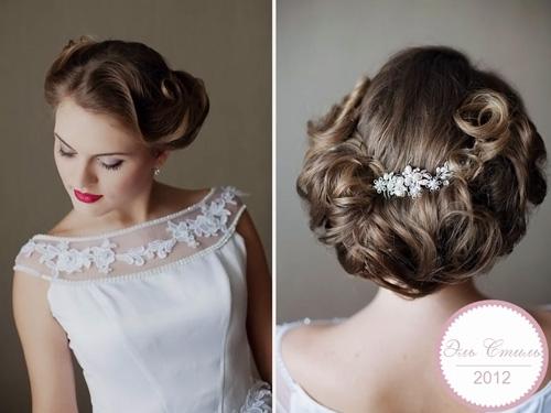 Прически с короткими волосами на свадьбу
