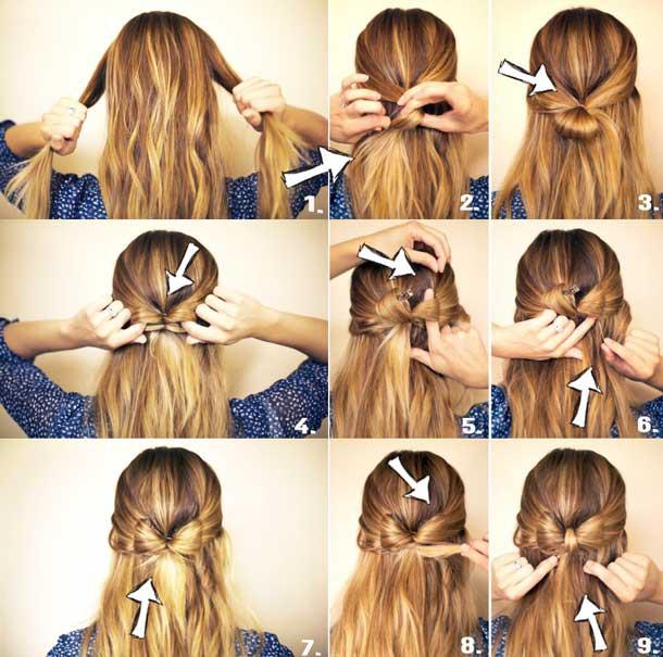 Прически в школу для средней длины волос
